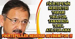 Fikirtepeliler Mehmet Özhaseki' nin icraatlerine neden sevinemiyorlar!!!