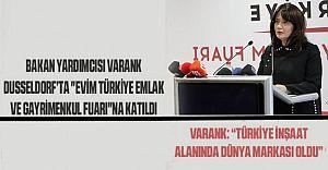 """Bakan Yrd. Varank Dusseldorf'ta """"Evim Türkiye Emlak ve Gayrimenkul Fuarı'nda"""