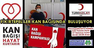 Fikirtepeliler 17 Temmuz Cuma Günü Kızılay'a Kan Bağışı için Toplanıyor