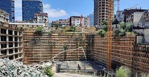 Başaran Fikirtepe Mina Towers'da çalışmalar hızlandı, makine pasları çözüldü.