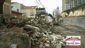 Kiptaş (Anka) Büyükadasında ilk yıkım
